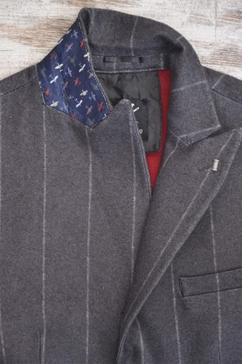 A18J029    0001 STRIPES02 BLAZER - 65%PL 15%CO 15%AC 5%EA Anthracite