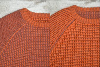 A18M015    8029 SWEATER REVERSIBLE - 70%ACRYLIC 30%WOOL Marsala - Orange Poppy