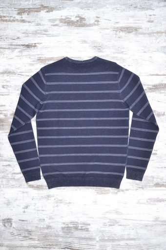 A18M023    0002 SWEATER STRIPES JAQUARD - 40%ACRYLIC 40%VI 20%NY Blue