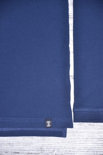 A18PS004   0002 JACQUARD POLO - 95% CO 5% EL Blue