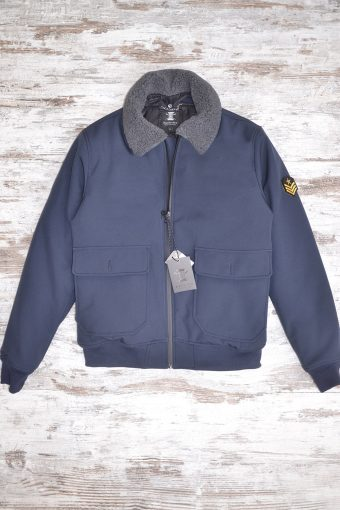 A18J007NP  0002 AVIATOR JKT (WITHOUT PATCH) - 100% NY Blue