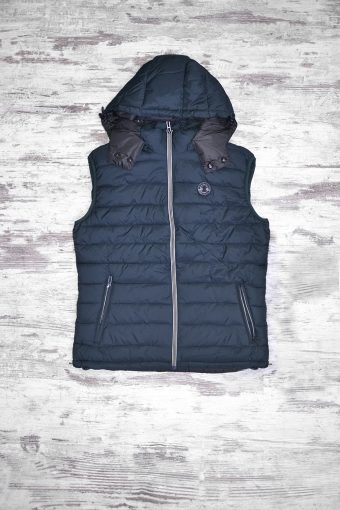A18J014    0002 GILET FAKE DOWN - 100% NY Blue