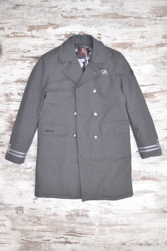A18J016    0009 BARONET FAKE COAT - 100%PL Dark gray
