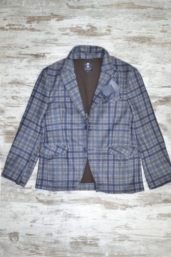 A18J026    0002 CHECK 02 BLAZER - 65%PL 15%CO 15%AC 5%EA Blue