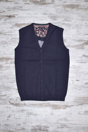 A18M004    0002 VEST BASIC - 80%CO 20%NY Blue