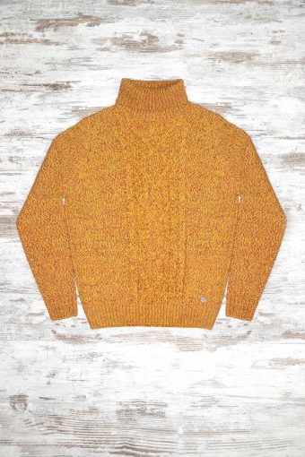 A18M017    1094 SWEATER MONTOSO - 70%ACRYLIC 30%WOOL Yellow - Red