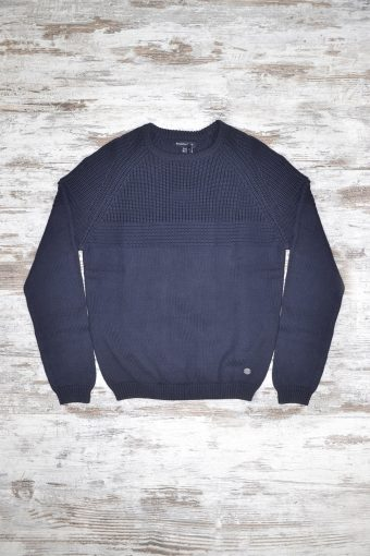 A18M019    0002 SWEATER CLAVIERE - 100%CO Blue