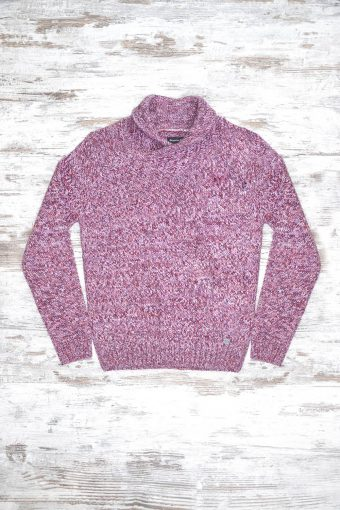A18M020    8366 SWEATER QUEBEC - 70%ACRYLIC 30%WOOL Bordeaux - Rose