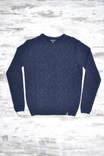 A18M028    0237 SWEATER DOTTED - 80%ACRYLIC 10%WOOL 10%PL Dark Blue Melange
