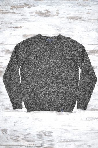 A18M031    9061 SWEATER CREW ROUND NECK - 85%CO 5%ACRYLIC Black - Gray