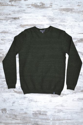 A18M037    0071 SWEATER RIGA - 80%CO 20%NY Military Green
