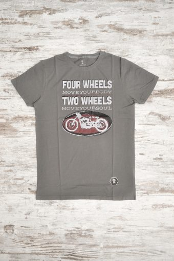 A18T001    0009 T-SHIRT TWE WHEELS - 100% JERSEY CO Dark gray