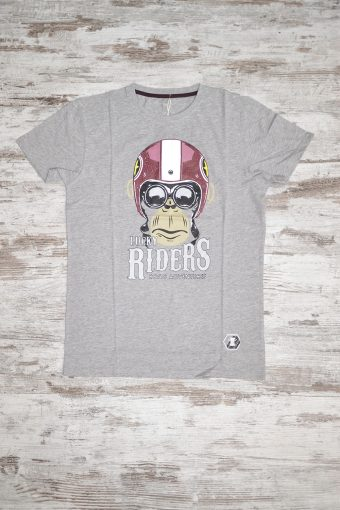 A18T003    0037 T-SHIRT MONKEY - 100% JERSEY CO Grey Melange