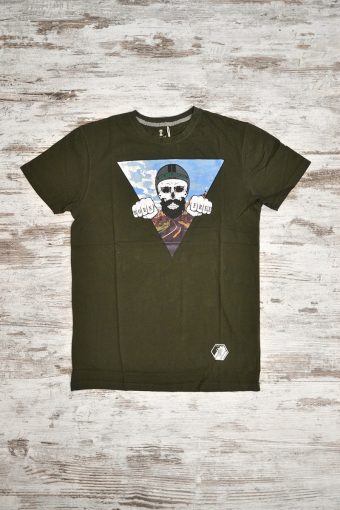 A18T004    0071 T-SHIRT BORN FREE - 100% JERSEY CO Military Green
