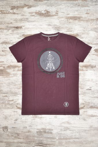 A18T005    0083 T-SHIRT JUST RIDE - 100% JERSEY CO Bordeaux
