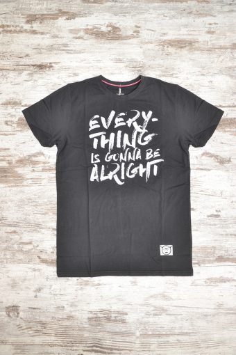 A18T006    0090 T-SHIRT ALRIGHT - 100% JERSEY CO Black