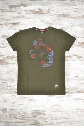 A18T012    0071 T-SHIRT PASSPORT - 100% SLUB JERSEY CO Military Green