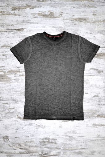 A18T030    0090 T-SHIRT GD POCKET - 100% SLUB JERSEY CO Black