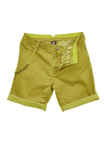 S18SH006   0010 CHINO SHORTS ALLOVER PRINT 98%CO  2%EL Yellow