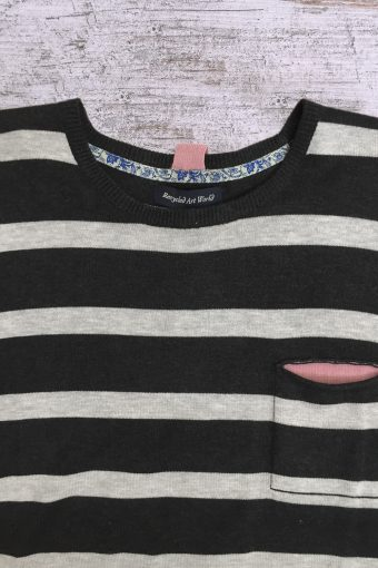 S19M008    0001 SWEATER STRIPES - 100%CO Anthracite
