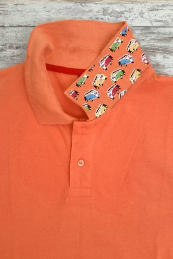 S19PS013   0080 POLO HIPPIE - 95%CO 5%EA PIQUET Orange