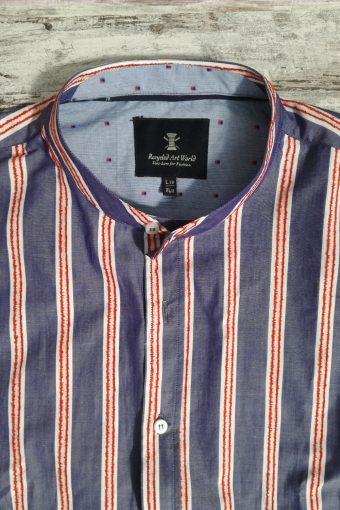S19S003K   0294 SHIRT STRIPED QUEEN KOREAN - 100%CO Dress Blue - Red