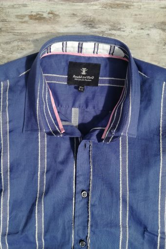 S19S005    0002 SHIRT DARK BATISTA - 100%CO Blue