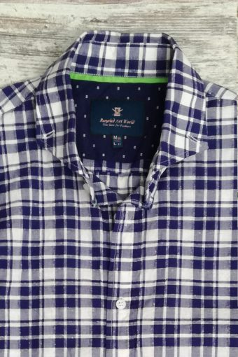 S19S013    0002 SHIRT CHECK PECHINO - 75%CO 25%SE Blue