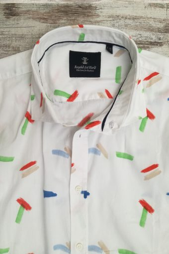 S19S019    0050 SHIRT HAPPY - 98%CO 2%EA Ice Flow - Optical White