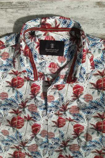 S19S031    0083 SHIRT SUNSET - 100%CO Bordeaux