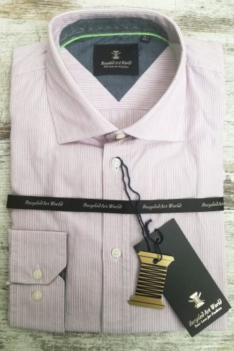 S19S036    0067 SHIRT PINK STRIPES - 100%CO Mauve Rose
