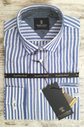 S19S039    0003 SHIRT DOBBY STRIPES - 100%CO Royal