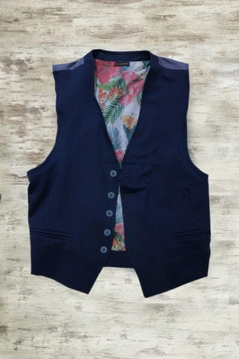 S19G002    0002 GILET TROPICAL - 100%CO Blue