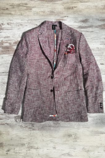 S19J033    0083 BLAZER DESEN - 45%PES 40%CO 15%VI Bordeaux