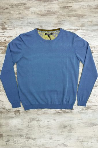 S19M001    0003 SWEATER ROUND NECK BASIC - 100%CO Royal