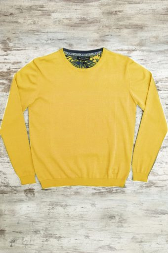 S19M001    0010 SWEATER ROUND NECK BASIC - 100%CO Yellow