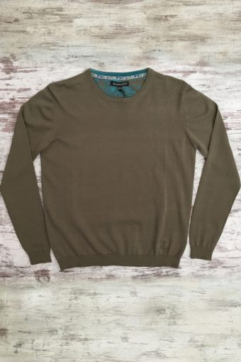 S19M001    0040 SWEATER ROUND NECK BASIC - 100%CO Brown