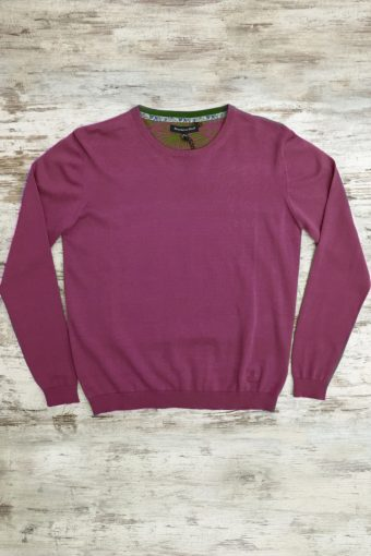 S19M001    0083 SWEATER ROUND NECK BASIC - 100%CO Bordeaux