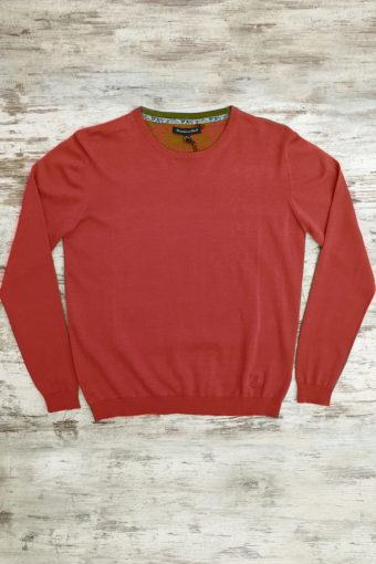 S19M001    0094 SWEATER ROUND NECK BASIC - 100%CO Red