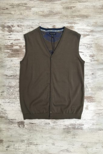 S19M003    0040 GILET BASIC - 100%CO Brown