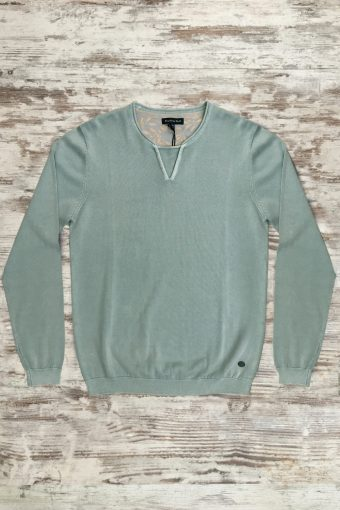 S19M005    0005 SWEATER ACID - 100%CO Mineral Blue