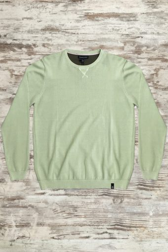 S19M007    0070 SWEATER COOL - 100%CO Sage Green - Green