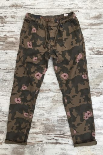 S19P010    0040 JOGGER CAMOUFLAGE - 98%CO 2%EA Brown