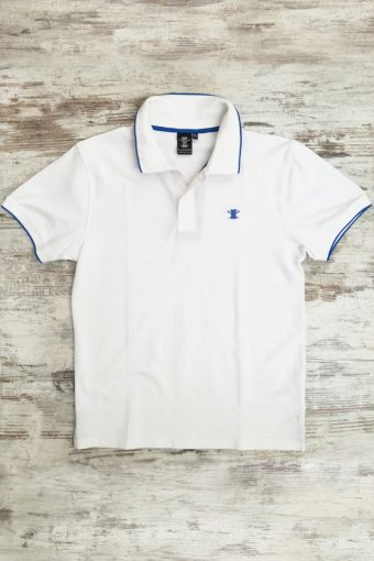 S19PS001   0050 POLO BASIC - 95%CO 5%EA PIQUET Ice Flow - Optical White