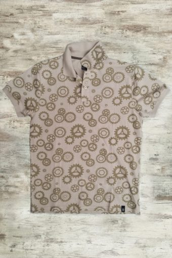 S19PS009   0096 POLO COGS MACHINE - 100%CO JERSEY Dark Beige