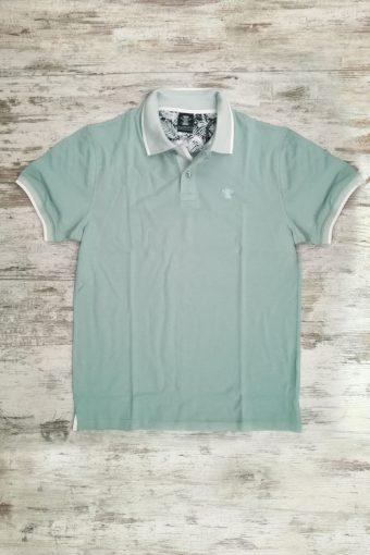 S19PS012   0005 POLO JACQUARD - 95%CO 5%EA PIQUET Mineral Blue