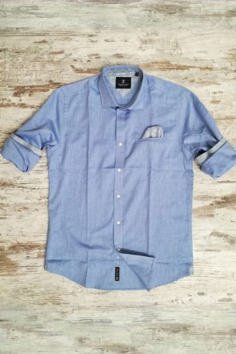 S19S002    0045 SHIRT OXFORD - 100%CO Light Blue