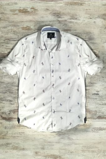 S19S004    0050 SHIRT BUTTERFLY - 100%CO Ice Flow - Optical White