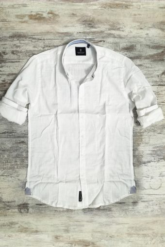 S19S006    0050 SHIRT LINO BASIC - 100%LI Ice Flow - Optical White