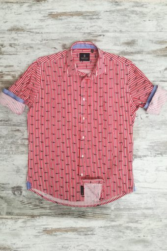 S19S015    0094 SHIRT HUNGRY SHORT SLEEVES - 98%CO 2%EA Red